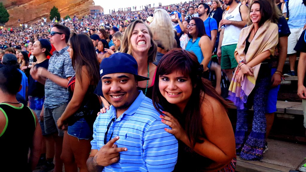 Friends at the Red Rocks Amphitheater
