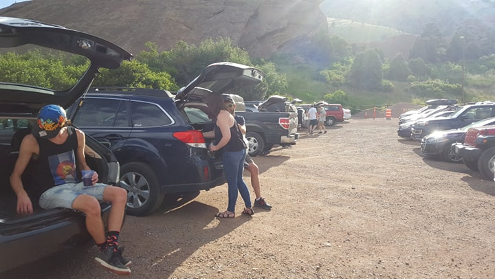 Parking at Red Rocks Amphitheater