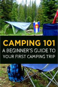 First Camping Trip pin