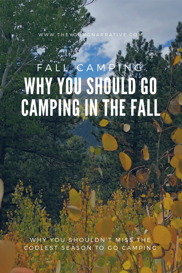 Fall camping Pinterest post