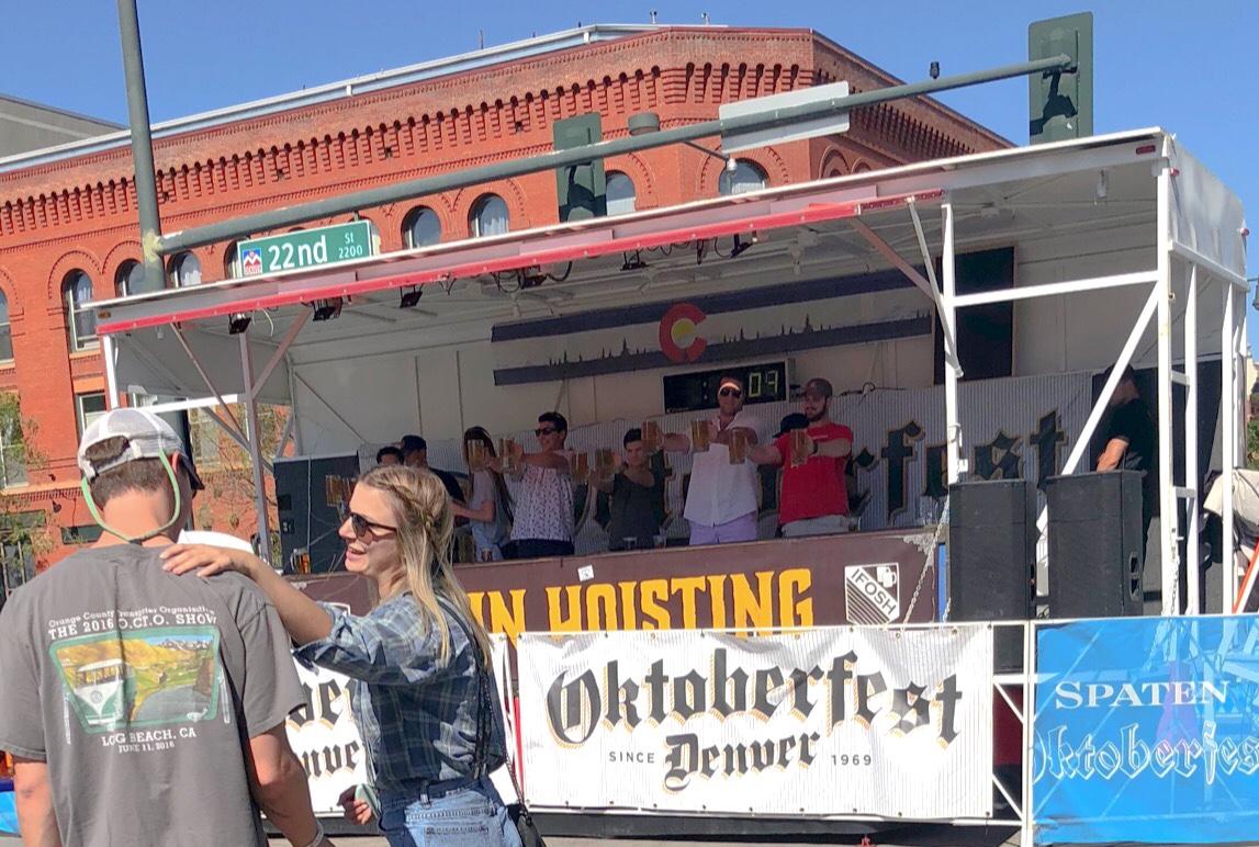 Denver Oktoberfest stein hoisting