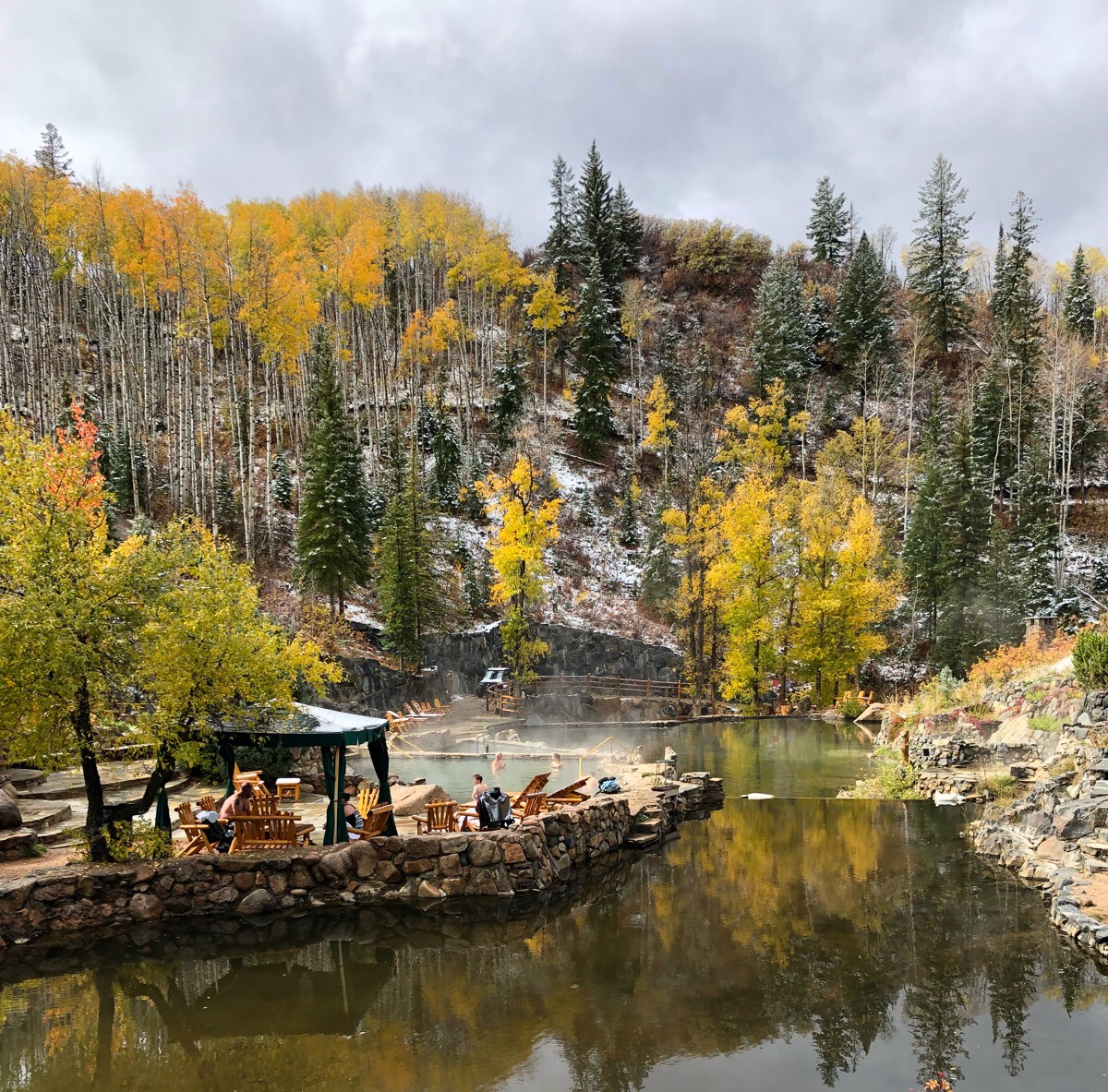 Ski town in fall Steamboat