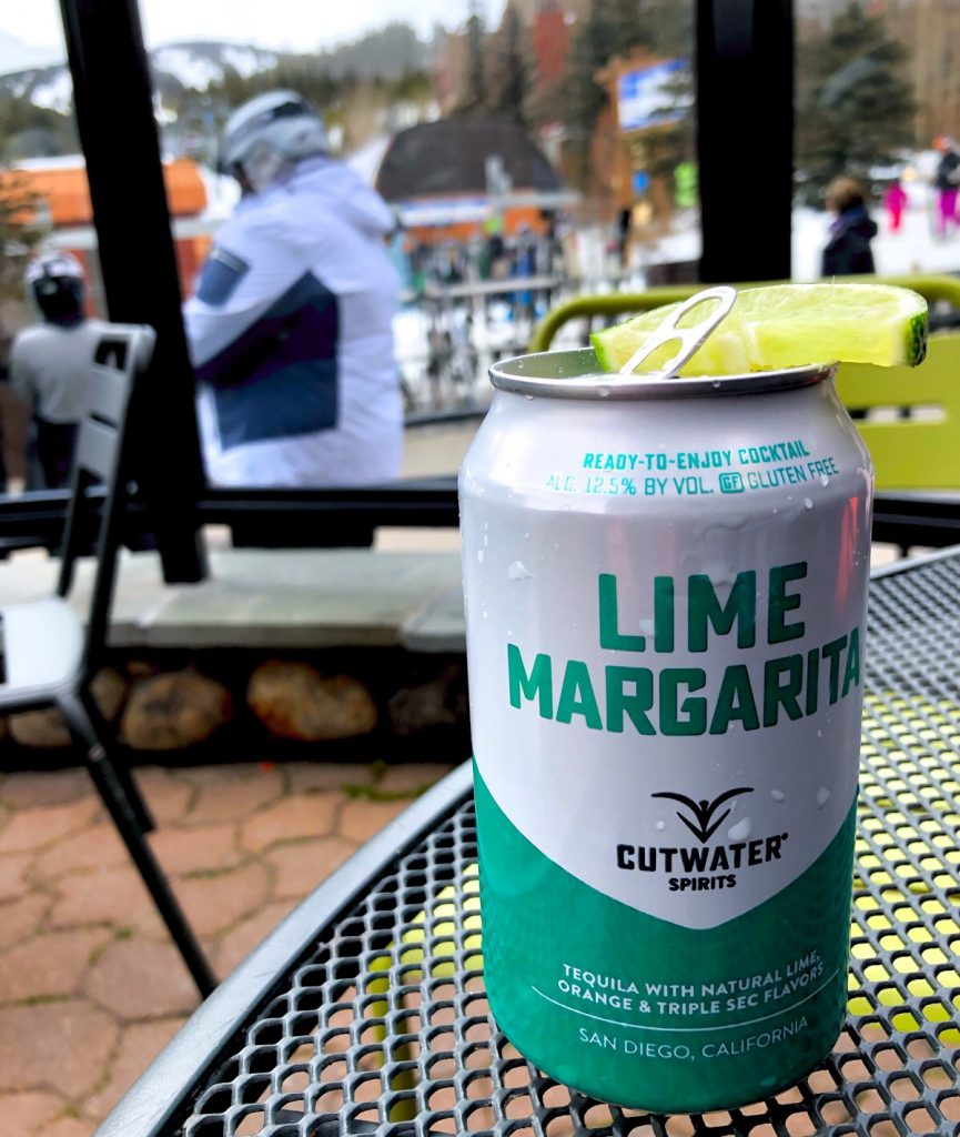 canned margarita at Breckenridge