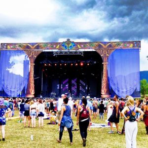 camping music festival stage