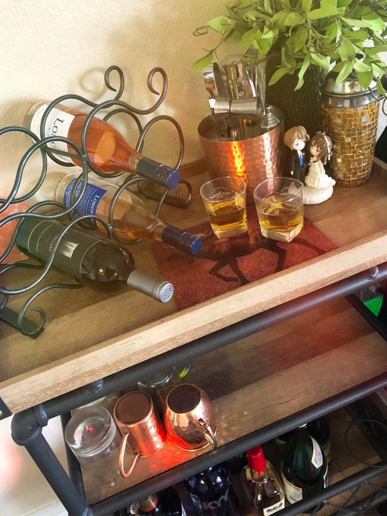Bar set up while stuck at home